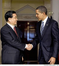 Photo President Obama USA United States of America and Hu Jintao China