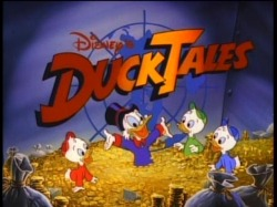 DIsney Duck Tales Scrooge McDuck Huey Dewey Louie Cartoon Gold